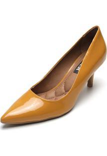 Scarpin Amber Verniz Amarelo