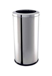 Lixeira Brinox Com Aro Decorline Em Aço Inox - 40,5 L