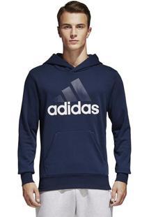 Blusa Ess Lin Po Ft - Azul Marinho & Branca - Adidasadidas