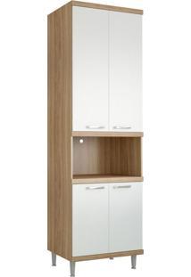 Módulo Para Forno 4 Portas Sicília Argila E Branco-Texturizado Multimóveis