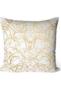 Capa De Almofada Love Decor Avulsa Decorativa Abstract Gold - Off-White - Dafiti