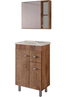 Gabinete De Banheiro Com Espelheira Celta 56,6X35,5 Wengue Gaam