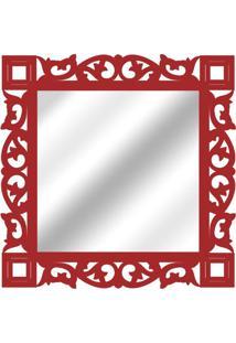 Espelho De Parede 14881V Vermelho 70X70 Art Shop