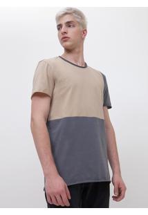 Camiseta Regular Com Recorte