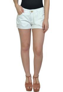 Shorts Sarja Branco Yck'S