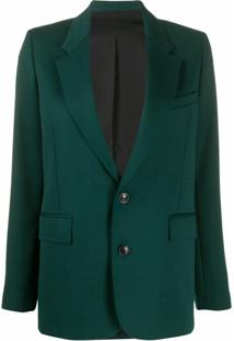 Ami Paris Blazer De Alfaiataria Com Abotoamento Simples - Verde