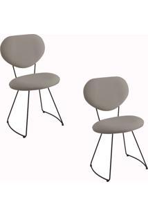 Kit 2 Cadeiras Gran Belo Mauritânia Linho Cinza