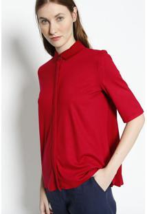 Camisa Com Drapeados- Bordã´- Lacostelacoste