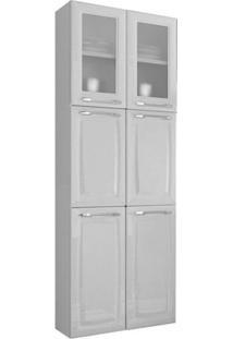 Paneleiro Ipldv 70 Criativa Itatiaia Em Aço 6 Portas 2 Em Vidro - Branco