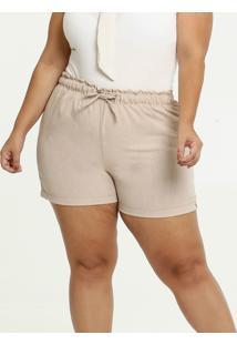 Short Feminina Tiras Amarração Plus Size