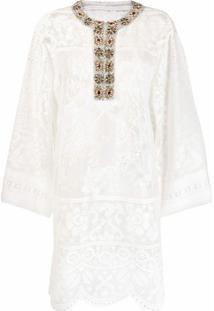 Dolce & Gabbana Kaftan Com Aplicações - Branco