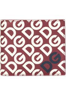 Dolce & Gabbana Carteira Com Estampa De Logo Dg - Vermelho