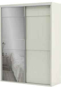 Armario Premium Com Espelho 2 Portas E 2 Gavetas Cor Off White 1,79 Mt (Larg) - 56455 - Sun House