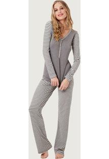 Pijama Joge Longo Listra - Listra - Feminino - Dafiti