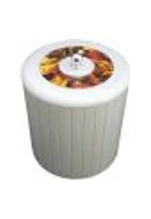 Cesto Lixo 5L Banheiro Tampa Decorativa Lixeira Higiênica Branca
