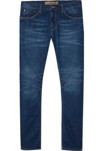 Calça John John Slim Maldivas 3D Jeans Azul Masculina (Jeans Medio, 40)