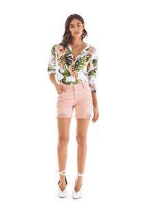 Shorts Comfort Tinturado Rosa