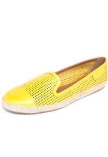 Sapatilha Carmim Furadinha Sola Corda Amarelo