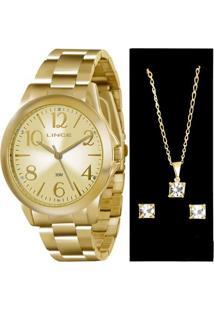 Kit Relógio Feminino Lince Lrgj042L K122C2Kx