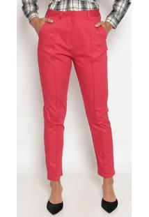 Calça Skinny Com Recortes - Vermelha- Suzan Zhengsusan Zheng
