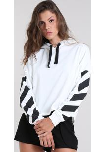 5e5ec93572 CEA. Blusão Curto Embutir Estampado Cropped Feminino Branco Poliester  Moletom ...