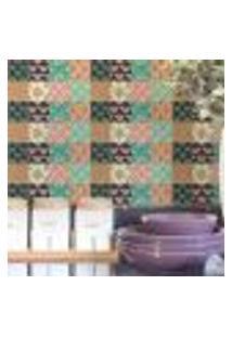 Papel De Parede Autocolante Rolo 0,58 X 5M - Azulejo Flores 28627757