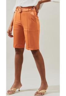 Bermuda Mx Fashion De Sarja Flaviane Laranja - Tricae