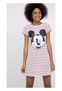 Camisola Manga Curta Estampa Mickey