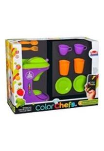 Kit Cafeteira Color Chefs Com Som Luz App + Acessórios