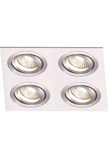 Spot Embutir De Alumínio Ecco 2,5Cmx15Cmx15Cm Bella Iluminação - Caixa Com 3 Unidade - Alumínio