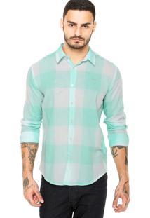 Camisa Colcci Estampada Verde