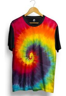Camiseta Bsc Tie Dye Full Print - Masculino-Preto
