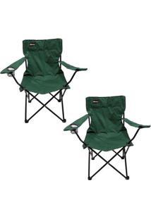 Kit 2 Cadeiras Dobráveis Para Camping Alvorada Com Porta Copos Nautika - Unissex