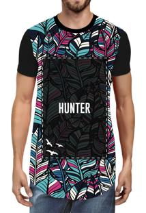 Camiseta Hunter Long Line Holl Preta
