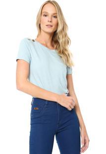 Camiseta Lunender Glitter Azul