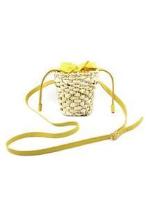 Bolsa De Palha Natural 0015 Amarelo