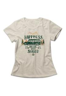 Camiseta Feminina Into The Wild Bege