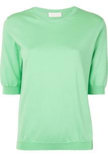 Tomorrowland Blusa Decote Careca De Tricô - Verde