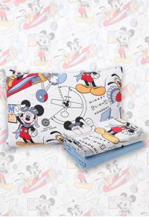 Jogo De Cama 3Pçs Solteiro Infantil Santista Disney Mickey