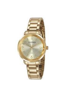 Relógio Feminino Mondaine 53657Lpmvde1Kb Analógico 3Atm + Pulseira | Mondaine | Champagne | U