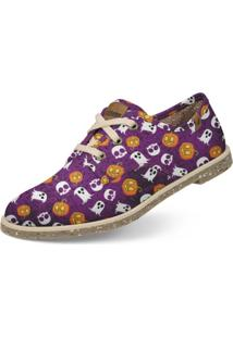 Oxford Usthemp Legend Vegano Casual Estampa Halloween Roxo
