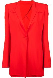 Dvf Diane Von Furstenberg Blazer Com Sobreposição - Vermelho