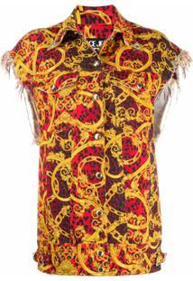 Versace Jeans Couture Colete Com Estampa De Leopardo Barroco - Amarelo