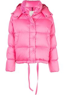 Moncler Hooded Puffer Jacket - Rosa