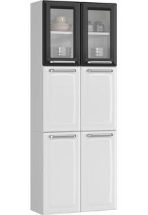 Paneleiro Duplo Itatiaia Luce Ipldv-70 Mx 6 Portas Branco/Preto