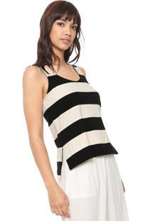 Regata Osklen Classic Stripe Off-White/Preta