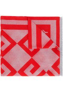 Givenchy Cachecol Grande Com Logo - Vermelho