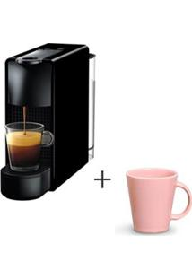 Cafeteira Nespresso Essenza Preto C30-Br - 110V + Canecas Basic Em Ceramica 04 Pecas Rosa - Porto Brasil