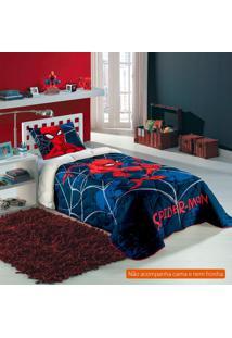 Edredom Infantil Spider Man (150X200) Algodão Azul Marinho