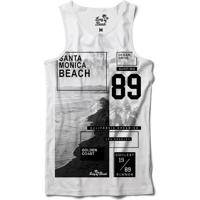 923af7ad76873 Camiseta Regata Long Beach Litoral Dourado Sublimada Branco
